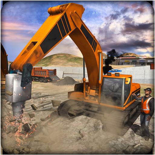 Sand Excavator Crane Simulator 3D – Stone Cutter