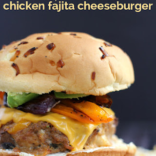 Triple Cheese Chicken Fajita Cheeseburger