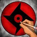 How to Draw Sharingan icon
