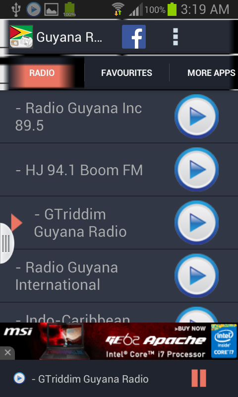 Guyana Radio News- screenshot