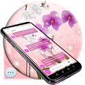 Orchid Flower SMS Theme icon