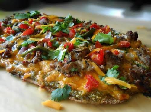 "Grilled Mexican Pizza Recipe ""Grilled pizza is the BOMB!"" - nextfoodnetworkchef  ""Made again tonight,..."