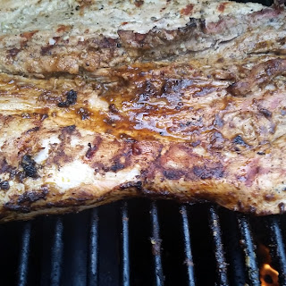 Grilled Pork Loin with a Mole Glaze
