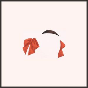 蝶リボンの髪飾り(赤)