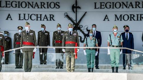 Tribuna de autoridades en la parada militar.