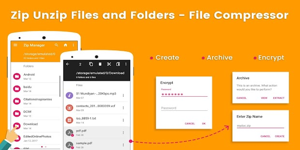 Zip Unzip Files and Folders - File Compressor Screenshot