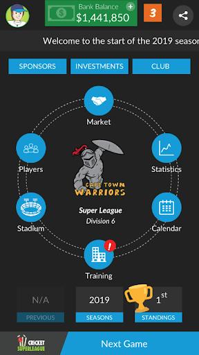 Code Triche Wicket Super League - A Cricket Manager Game! APK Mod screenshots 1