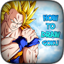 Step-by-Step drawing of a goku dragon APK icon