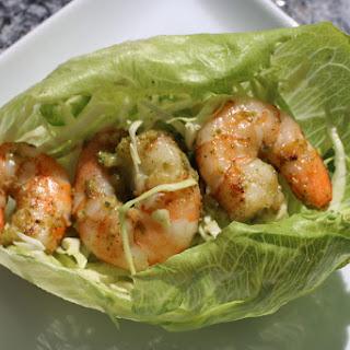 Mini Shrimp Lettuce Wraps.