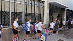 Vuelta a las aulas en el colegio El Milagro de Almería.