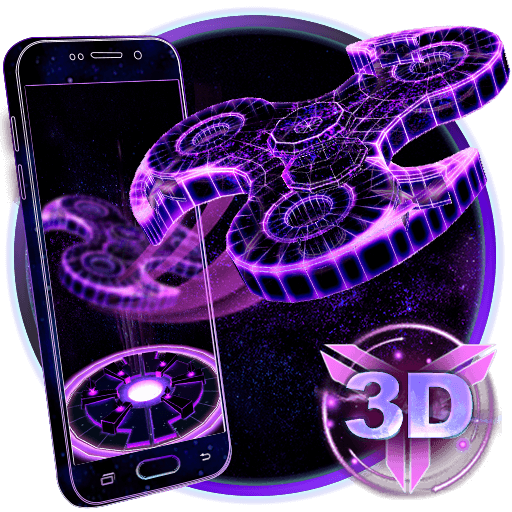 3D Fidget Spinner Neon Hologram Theme file APK for Gaming PC/PS3/PS4 Smart TV