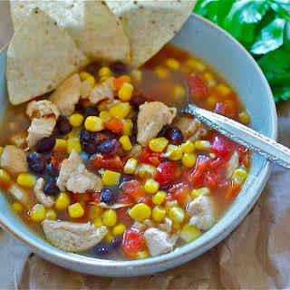 Southwest Chicken Soup Gluten Free.