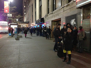 Photo: Line outside before the show
