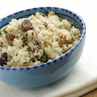 Couscous with Golden Raisins and Cinnamon.