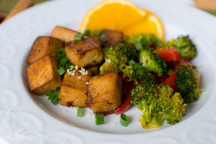Orange-Ginger Roasted Tofu Recipe