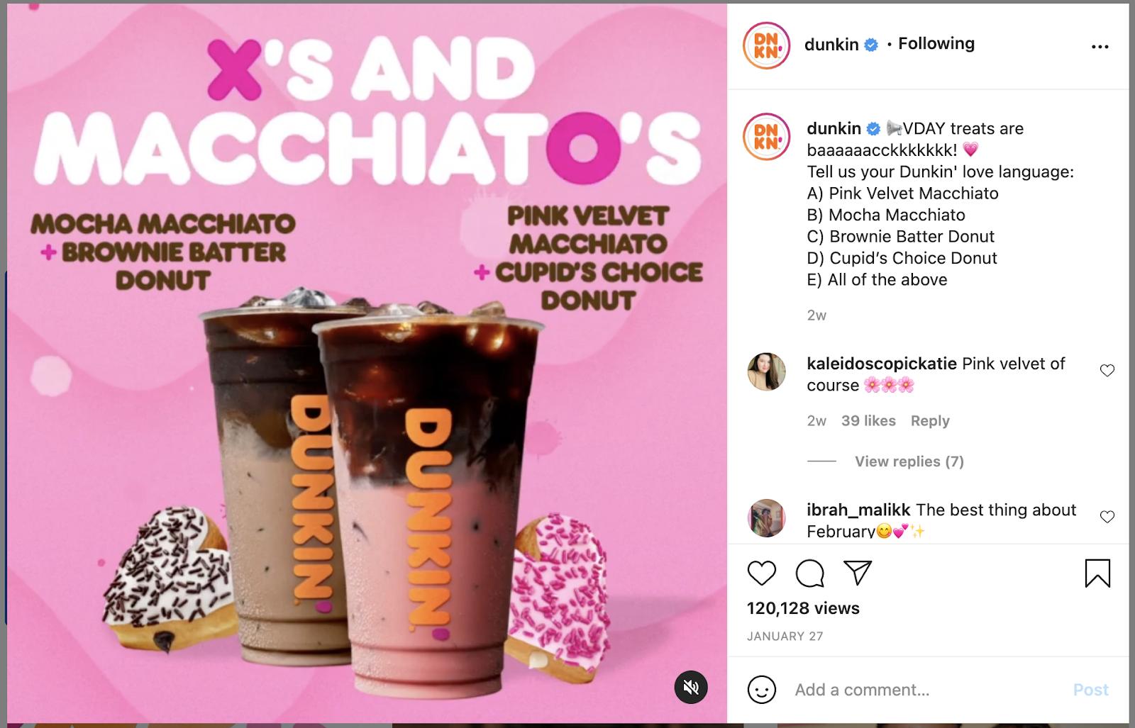 Instagram caption example