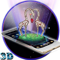 giraffa 3D Amore Glob Theme icon
