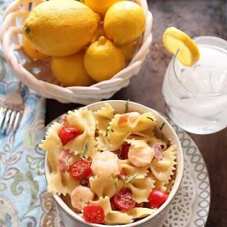 Shrimp And Prosciutto Pasta For One.