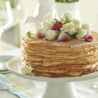 Caramel Crepe Cake.