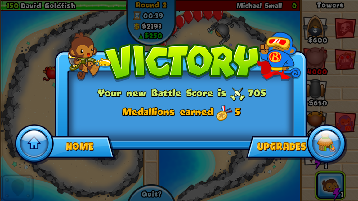 #8. Bloons TD Battles (Android)