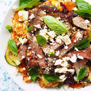 Sumac Lamb And Feta Couscous Salad