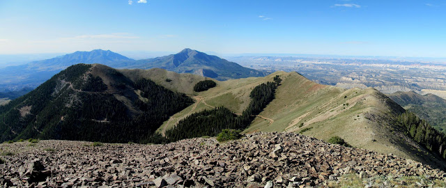 South Summit Ridge and Kimble and Turner Peak (left)