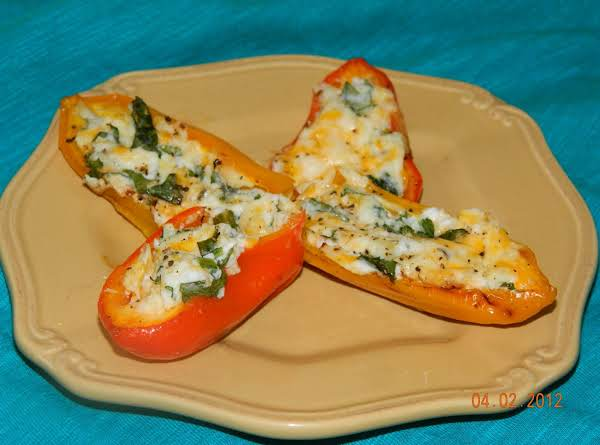 Spinach And Cheese Stuffed Mini Sweet Peppers