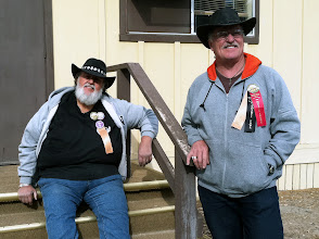 Photo: The Kuddabin Brothers relax between shows at the Death Valley '49ers Encampment.