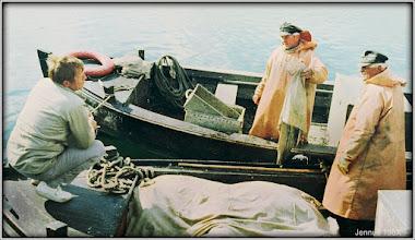 Photo: Rudi von Alaska bei den Fischern in Kirchdorf auf der Insel Poel.