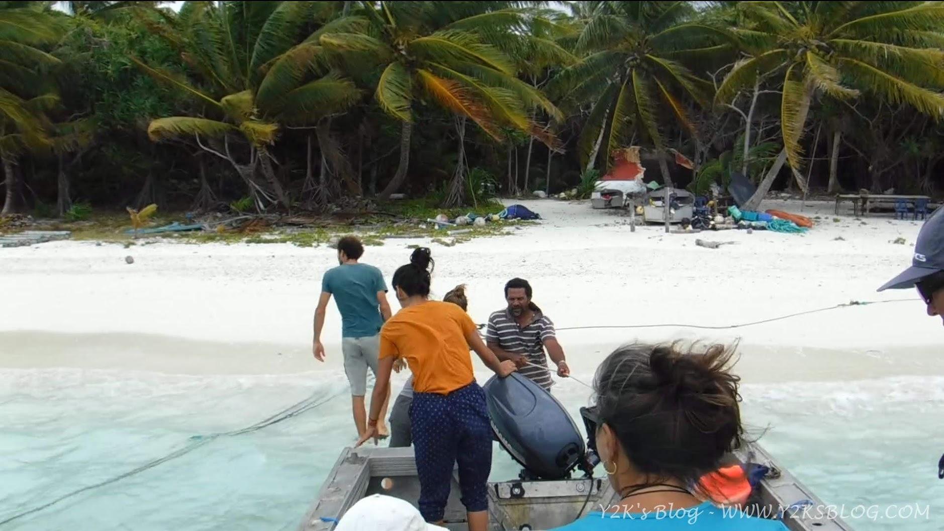 Dalle nostre barche alla spiaggia grazie a Eddie - Palmerston