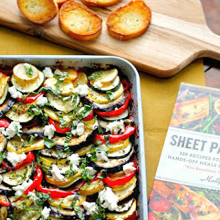 Hearty Ratatouille with Goat's Cheese #WeekdaySupper #Giveaway.