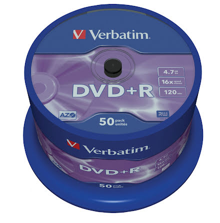 DVD+R Verbatim 16x 50/fp