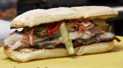 Photo: The Asian Flank Steak Sandwich, Mitchell's Delicatessen, Nashville, TN