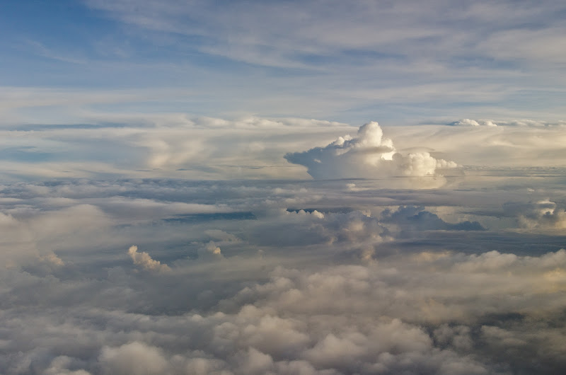 Photo: Looking out the window of the plane on the way back home to Singapore