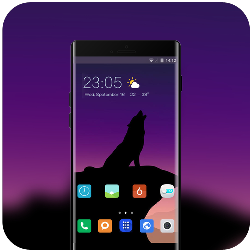 Theme for wolf minimalism Xperia Xz3 icon