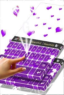 Purple Hearts Keyboard - náhled