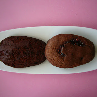 Chocolate Raspberry Madeleines