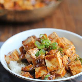 Eggplant Mapo Tofu.