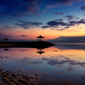 Karang Sanur Beach by Anton Subiyanto - Landscapes Beaches ( water, bali, sunset, long exposure, beach, sunrise, landscape, slow shutter )