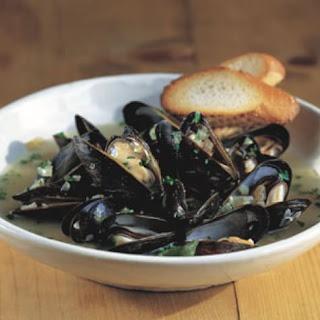 Mussels Marinière.