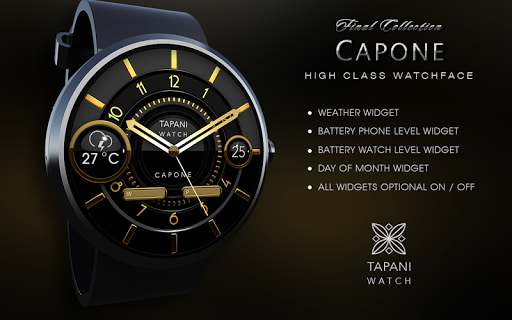 Capone weather wear watch face App Report on Mobile Action