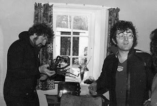 Photo: John Dowling and Martin Henningar examine a specimen