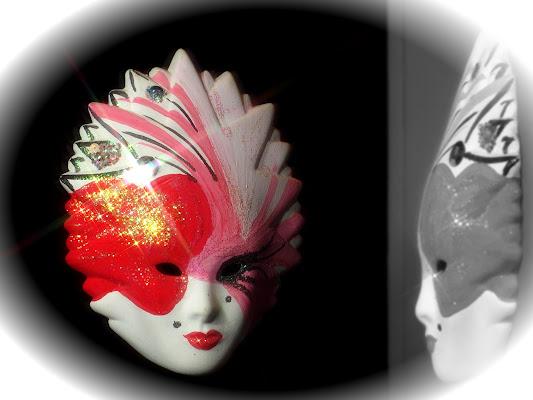 Riflesso di una maschera di Patrix