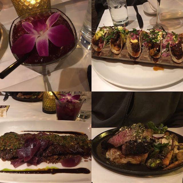 Sangria steak and amazing tacos!!
