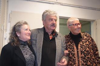 Photo: KÜNSTLERGESPRÄCH MIT BERND WEIKL am 6.2.2016. Dkf. Liane Bermann, Dr. Bernd Weikl. Copyright: Herta Haider