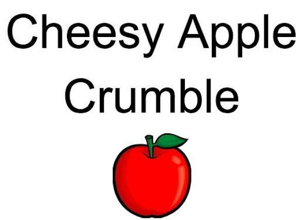 Cheesy Apple Crumble Recipe