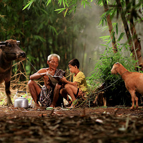 one day in suradita by Adri Budiman - People Family ( dad with kids, senior citizen, people, dad and 'kid' )