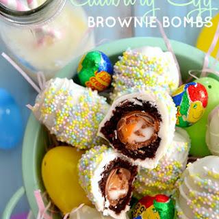 Cadbury Creme Egg Brownie Bombs