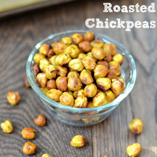 Honey Mustard Roasted Chickpeas