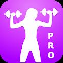 Gym Fitness Body Bodybuilding. icon